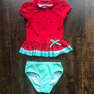 Circle 2 piece swim suit, 18-24 months